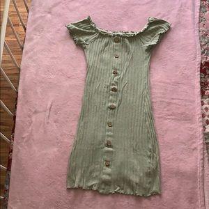 Olive bodycon mini dress